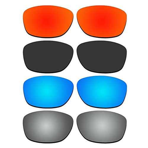 4 Pair Replacement Polarized Lenses for Oakley Pit Bull Sunglasses Pack - Pit Sunglasses Bull