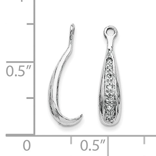 14k White Gold Diamond Earrings Jackets