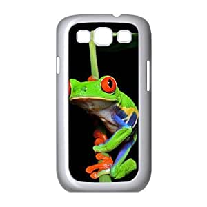 Diy Beautiful Frog Custom Cover Phone Case for samsung galaxy s3 White Shell Phone [Pattern-5]