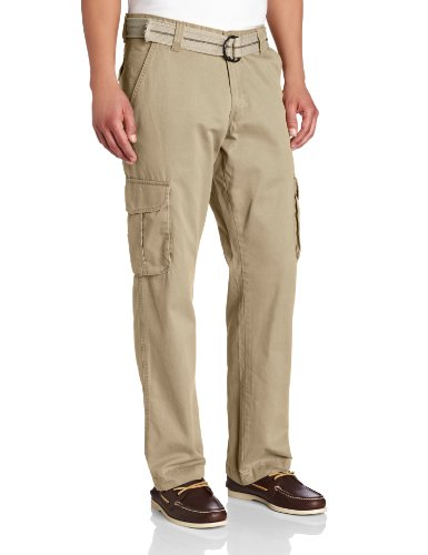 Beachwood Apparel - Lee Men's Relaxed Fit Utility Belted Cargo Pants, Beachwood, 42W x 30L