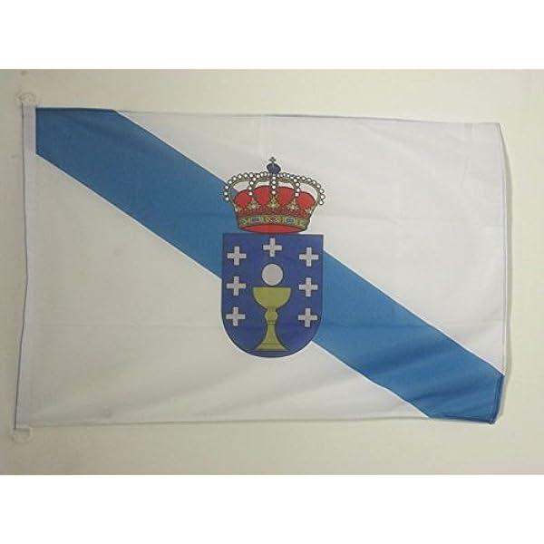 AZ FLAG Bandera de Galicia 90x60cm Uso Exterior - Bandera GALLEGA 60 x 90 cm Anillos: Amazon.es: Hogar