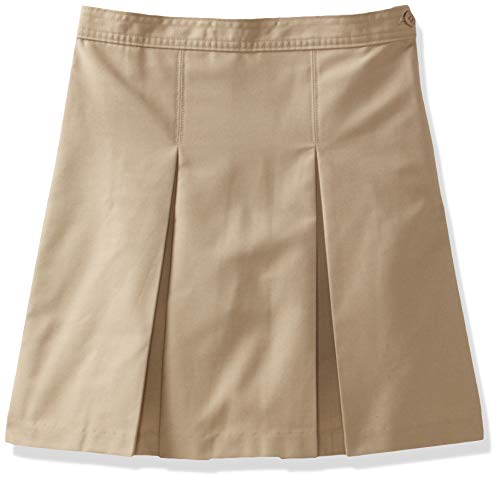(Classroom School Uniforms Girls' Little Kick Pleat Skirt, Khaki, 6.0)