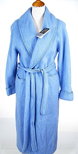 Val d'Arizes Laine des Pyrénées - Robe de chambre laine des Pyrénées croisé col châle bleuet