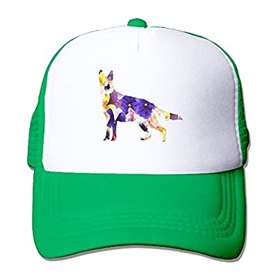 Flowers Wolf Adjustable Snapback Baseball Cap Custom Mesh Trucker Hat from Huishe1