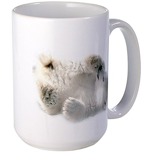 (CafePress Baby Polar Bear Mugs Coffee Mug, Large 15 oz. White Coffee Cup)
