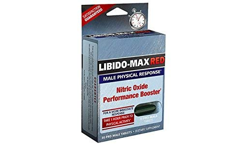 Applied Nutrition Libido-Max RED for Male Physical Response, Nitric Oxide Booster – 30 Tablets