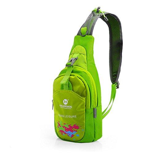 Bolso de viaje al aire libre/Bandolera de los amantes/pecho bolsa de deporte/Bolsa impermeable de hombres y mujeres-Rosa roja fruta verde 1
