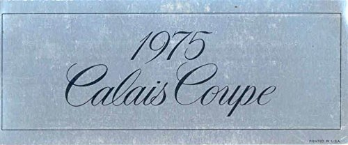 Cadillac Calais Coupe (1975 Cadillac Calais Coupe Showroom License)