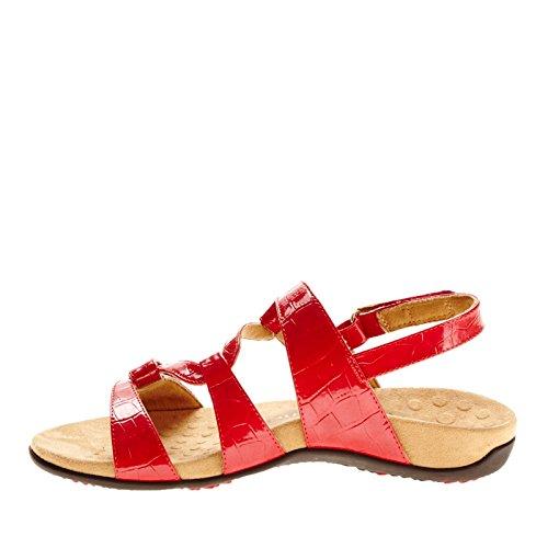 Vionic Red Croc Paros Rest Women's Sandal Backstrap TqgrTBwv