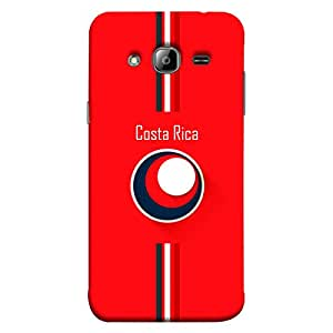 colorKing Samsung J3 2016 Football Red Case shell cover - Fifa Costa Rica 01