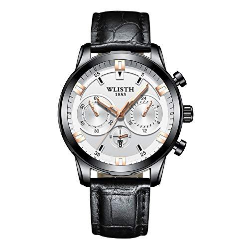 (Men Full Steel Quartz Analog Wrist Watch, Men Waterproof Date Business Watch Classic Watches)