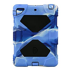 ACEGUARDER Apple Ipad Mini 2 Case Waterproof Rainproof Shockproof Kids Proof Case for Ipad Mini 2 (Gifts Outdoor Carabiner + Whistle + Handwritten Touch Pen) (NAVY/BLACK) from ACEGUARDER