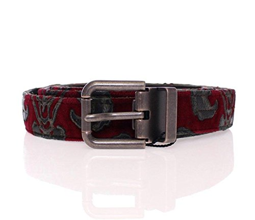 Dolce & Gabbana Red Velvet Baroque Leather - Gabbana Dolce Baroque And