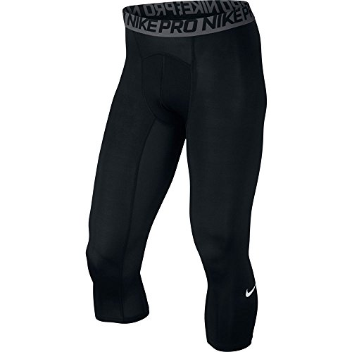 NIKE Pro Men's Compression 3/4 Tights, Black, XX-Large, 703082-010
