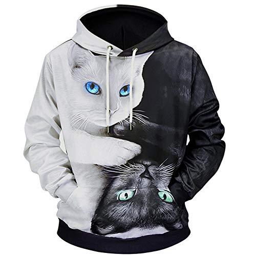 ◕‿◕ Toponly Mens 3D Printed Pullover Long Sleeve Hooded Sweatshirt Tops Blouse -