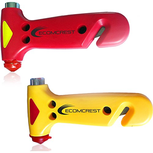 Car Safety Hammer, Window Breaker and Seatbelt Cutter. Pack of 2. Comes With Dashboard Mat by Ecomcrest (Image #7)
