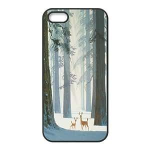 Unique Design -ZE-MIN PHONE CASE- For Apple Iphone 5 5S Cases -Animal Deer-CUSTOM-DESIGH 15