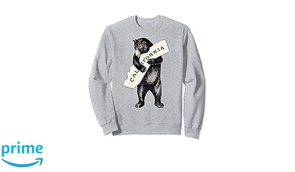 e8a1459b Amazon.com: Retro I Love California 1913 Vintage Cali Bear Sweatshirt:  Clothing
