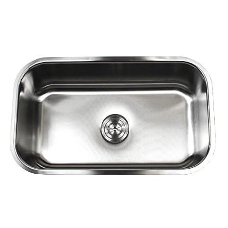 ariel pearl 30 inch premium 16 gauge stainless steel undermount single bowl kitchen sink with free accessories amazoncom - Kitchen Sinks Nz