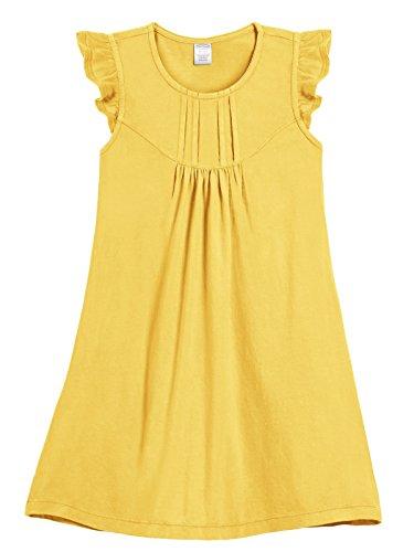 City Threads Girls' Flutter Sleeve Dress Cotton Twirly Tank Dress For School Play