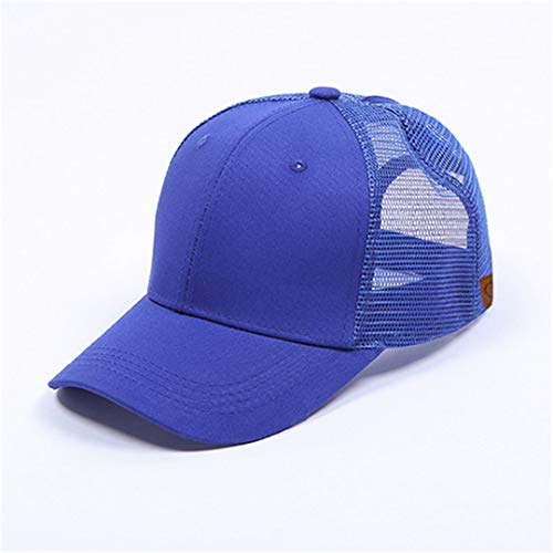 DSFEWRD Glitter Ponytail Baseball Cap Women Hat Summer Messy Bun Mesh Hats Casual Adjustable Sport Caps Royal Blue with tag