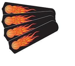 Ceiling Fan Designers 42SET-KIDS-FBB Flaming Basketball Balls 42 in. Ceiling Fan Blades Only
