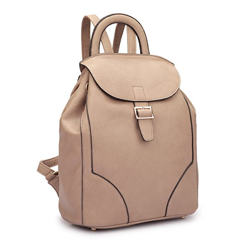 dasein-womens-faux-leather-drawstring-backpack-smooth-pebbled-shoulder-bag-with-top-handle