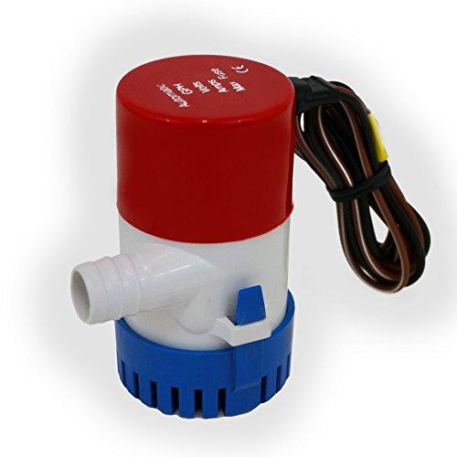 Marine 550 GPH Bilge Pump 12 Volt 2 Amp Submersible 3/4