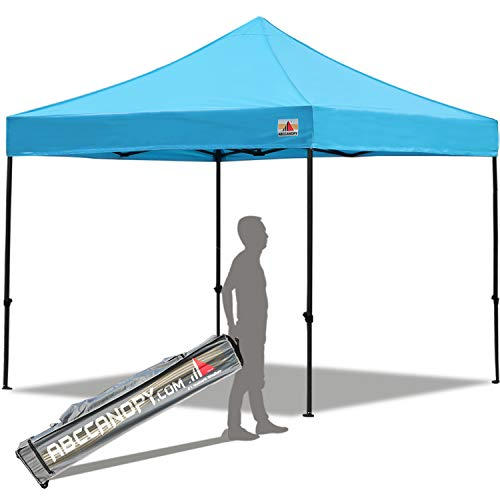 ABCCANOPY Pop up Canopy Tent Commercial Instant Shelter with Wheeled Carry Bag, 10×10 FT Sky Blue Review
