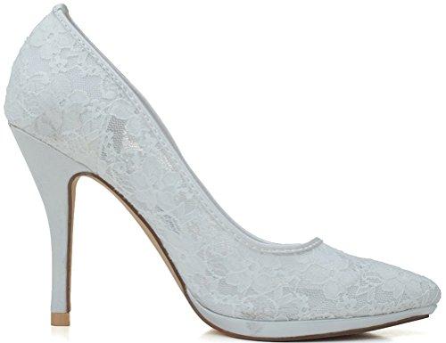 36 Femme Sandales Nice Find 5 Blanc Blanc Compensées w7AUqYt