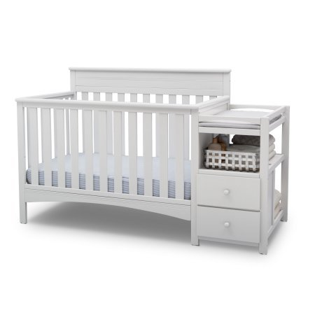 Presley All-In-One Convertible Crib N Changer, Toddler Bed, Daybed and a Full Size Bed - Bianca White