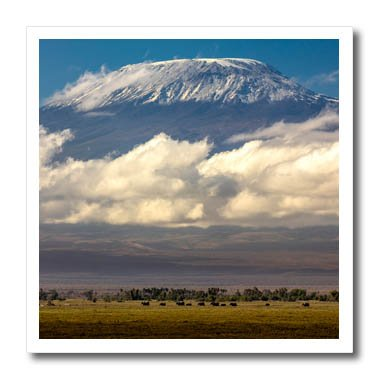 - 3dRose Danita Delimont - Mountains - Amboseli National Park, Kenya - 6x6 Iron on Heat Transfer for White Material (ht_276451_2)