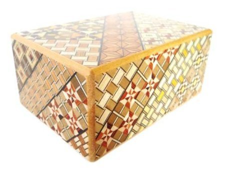 Japanese Yosegi Puzzle Box 4-Sun 14 Moves by Japanese Puzzle Boxes