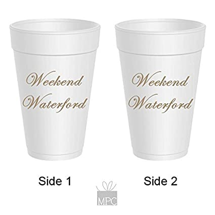 48e24b2606e Amazon.com: Styrofoam Party Cups - Weekend Waterford: Kitchen & Dining