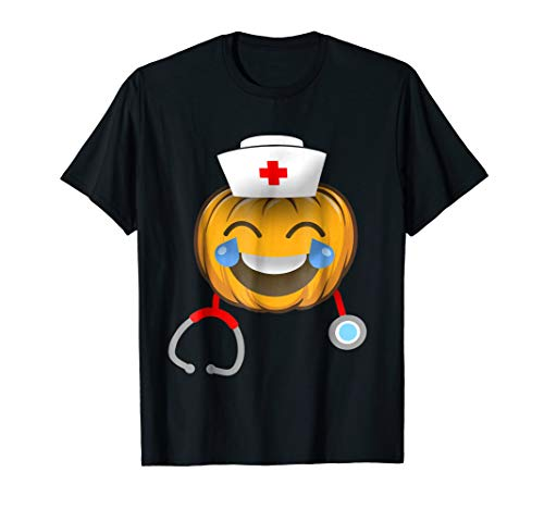 Nurse Halloween Emoji smiling face with open mouth shirt