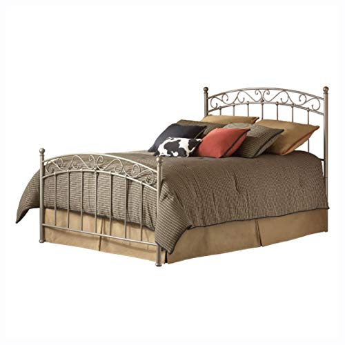 HEATAPPLY Metal Bed, Queen Size Gentle Arch Metal Bed with Headboard and Footboard ()
