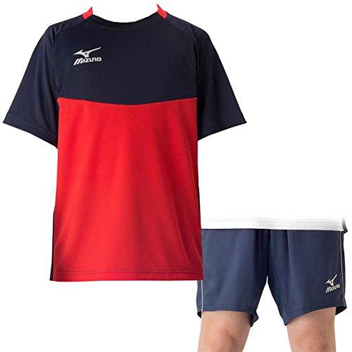 持参計算するバスケットボールミズノ(MIZUNO) フィールドシャツ&パンツ 上下セット(Cレッドドレスネイビー/ドレスネイビー) P2MA7044-62-P2MD7062-14 CレッドDネイビー/Dネイビー 2XL