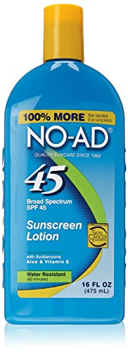 No-Ad Sunblock Lotion Spf 45. 16 Oz Each Pack of 2