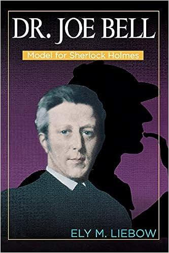 Dr Model for Sherlock Holmes Joe Bell