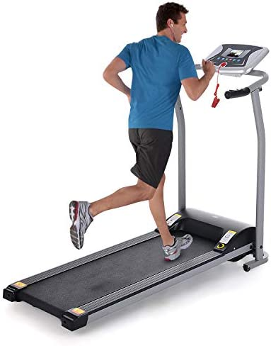 Folding Treadmills Electric Motorized Running Exercise Equipment w Incline LCD Display