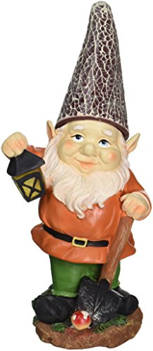 Disney Garden Gnomes (Eastwind Gifts 10016217 Little Lantern Gnome Solar Statue)