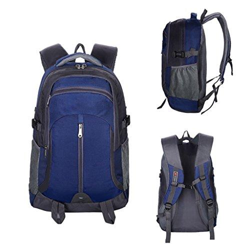 AMOS Bolso de viaje al aire libre hombres y mujeres deportes hombro bolsa de viaje de gran capacidad mochila 40L ( Color : Azul oscuro ) Azul oscuro