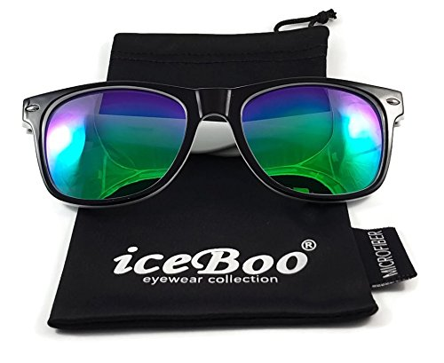 7936 Lunettes iceBoo® Lens Black de Frame soleil Green Outer White Homme wrTwvqx
