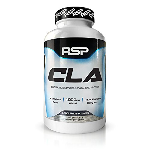 RSP CLA 1000 Conjugated Linoleic Acid Max Strength Softgels, Natural Stimulant Free Weight Loss Supplement, Fat Burner for Men & Women, 180 Count