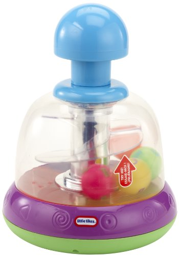 Lights n' Sounds Spinning Top- Purple/ Green by Little Tikes