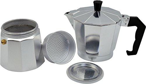 photo Wallpaper of Argon Tableware-Argon Tableware 6 Cup Italian Style Stove Top Espresso Coffee Percolator. Traditional-Silver