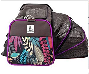 Premium Double Expandable Luxury Dog and Cat Pet Carrier Airline Approved - Foldable with Fleece Bedding - Pet Penthouse by Canines and Critters