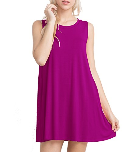 Mitto Shop Women's ECO-Friendly Bamboo Fiber Sleeveless Trapeze Knit Dress (Small, (Daisy Knit Dress)