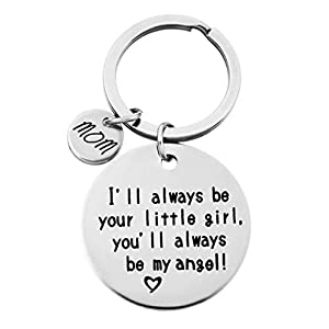 INSEET Mother's Day Gifts Keychain I Will Always Be Your Little Girl Key Chain Mom's Gifts