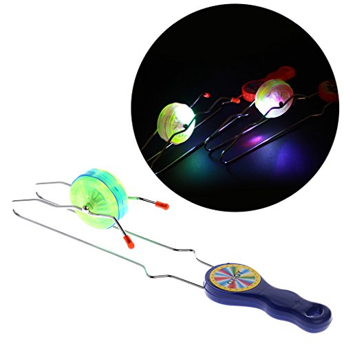Coldtoy YO-YO Ball, Colorful LED Flashing Magic Rail Rolling Flywheel Toy For Kids (Pro Fly Yo Yo)
